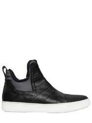 Bruno Bordese Rubberized And Nappa Leather Sneakers