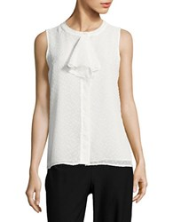 Tommy Hilfiger Textured Sleeveless Top Ivory