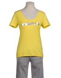 Diesel Topwear Short Sleeve T Shirts Women Yellow