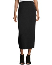 Eileen Fisher Washable Wool Midi Pencil Skirt Charcoal Grey Women's