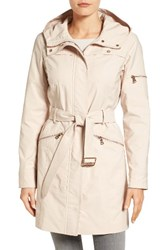 Vince Camuto Women's Hooded Belted Trench Coat Blossom