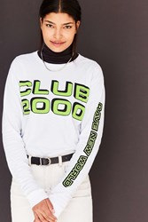 Silence And Noise Club 2000 Long Sleeve Tee White