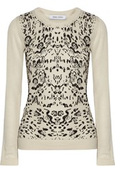 Prabal Gurung Sequined Cashmere Sweater White