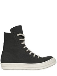 Rick Owens Drkshdw Canvas High Top Sneakers