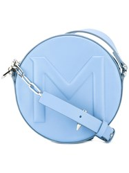 Thierry Mugler Round Crossbody Bag Blue