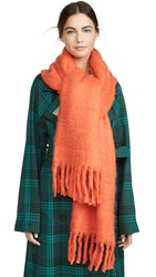 Rebecca Minkoff Woven Blanket Scarf Orange
