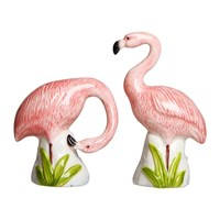 Klevering Andflamingo Salt And Pepper Shakers