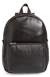 State Bags Greenwood Mini Lorimer Leather Backpack Black