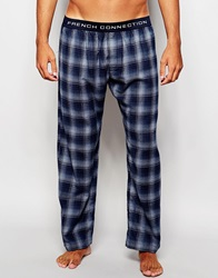 French Connection Lounge Pants In Check Blue