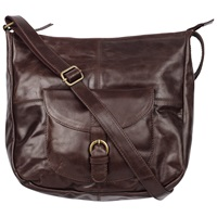 Fat Face Scoop Leather Cross Body Bag Peat