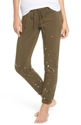 Chaser Distressed Fleece Jogger Lounge Pants Mountain