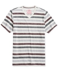 American Rag Men's Holiday Stripe T Shirt Only At Macy's Oat Hthr