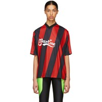 Martine Rose Red And Black Twist Football T Shirt