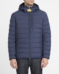 Parajumpers Blue Hooded Last Minute Down Jacket