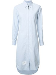 Thom Browne Striped Detail Shirt Dress Blue