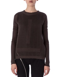 Rick Owens Crew Neck Sweater In Cutout Knit