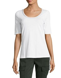 Tommy Bahama Seaport Embroidered Tee White