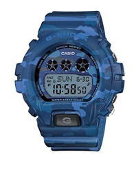 G Shock Baby G S Series Blue Camo Stainless Steel And Resin Watch