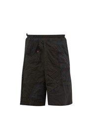 By Walid Nathan Patchwork Cotton Shorts Brown Multi
