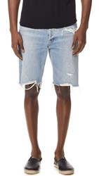 Agolde Division Jean Shorts Blue