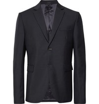 Acne Studios Midnight Blue Brobyn Wool And Mohair Blend Suit Jacket