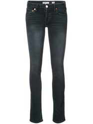 Re Done Classic Fitted Jeans Cotton Spandex Elastane Blue