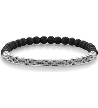 Thomas Sabo Love Bridge Sterling Silver And Black Zirconia Bracelet