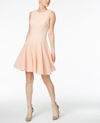 Calvin Klein Laser Cutout Fit And Flare Dress Nectar