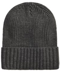 Club Room Men's Solid Cuff Hat Created For Macy's Charcoal Htr