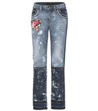 Dolce And Gabbana Embroidered Jeans Blue