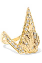 Venyx Naida 18 Karat Blackened Gold Diamond Ring