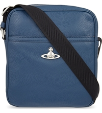 Vivienne Westwood Leather Cross Body Bag Blue