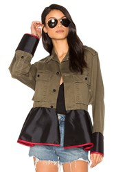Harvey Faircloth Drab Field Peplum Jacket Green