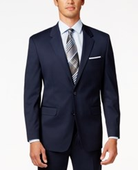 Alfani Men's Traveler Navy Solid Classic Fit Jacket Only At Macy's