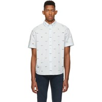 Rag And Bone Blue Smith Shirt Iceflow 0