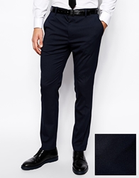 Asos Slim Fit Tuxedo Suit Trousers Navy