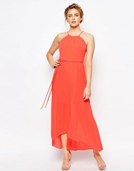 Coast Mauritius Pleated Maxi Dress Orange