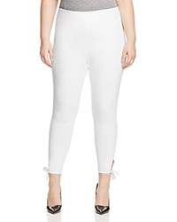 Lysse Plus Tie Cuff Cropped Leggings White