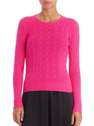 Polo Ralph Lauren Cable Knit Cashmere Sweater Lime Glow Pink Mink Neon Citrus Chalet Purple