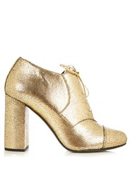 Max Mara Zoraide Oxford Pumps Gold