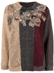 Antonio Marras Lace Panelled Jumper Red