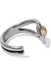 Giles And Brother Silver Plated Ring Metallic