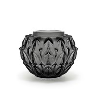 Lalique Cynara Vase Grey