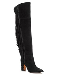 Dolce Vita Izie Fringe High Shaft High Heel Boots