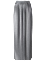 Theory Long Pleated Skirt Grey