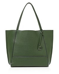Botkier Soho Heavy Grain Pebbled Leather Tote Moss