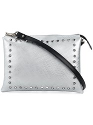 Gum Studded Shoulder Bag Metallic
