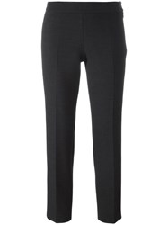 Alberto Biani Cropped Tapered Trousers Grey