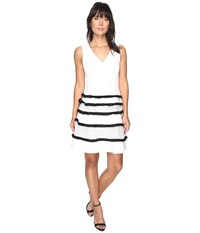 Adelyn Rae Carol Woven Lace Fringe Fit And Flare Dress White Women's Dress