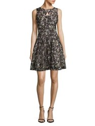 Gabby Skye Floral Fit And Flare Dress Black Blush